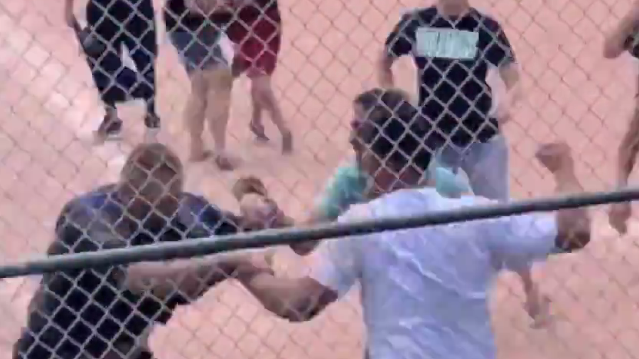 fight breaks out during youth baseball game in lakewood.