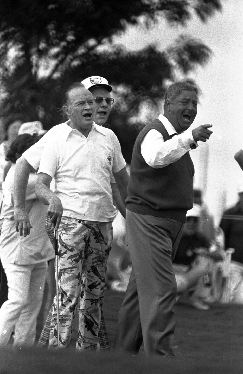 Jackie Gleason, Bob Hope and President Gerald Ford at Inverrary in 1975