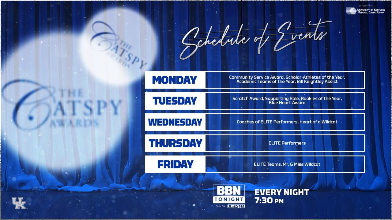 BBN Tonight CATPSY schedule 2021