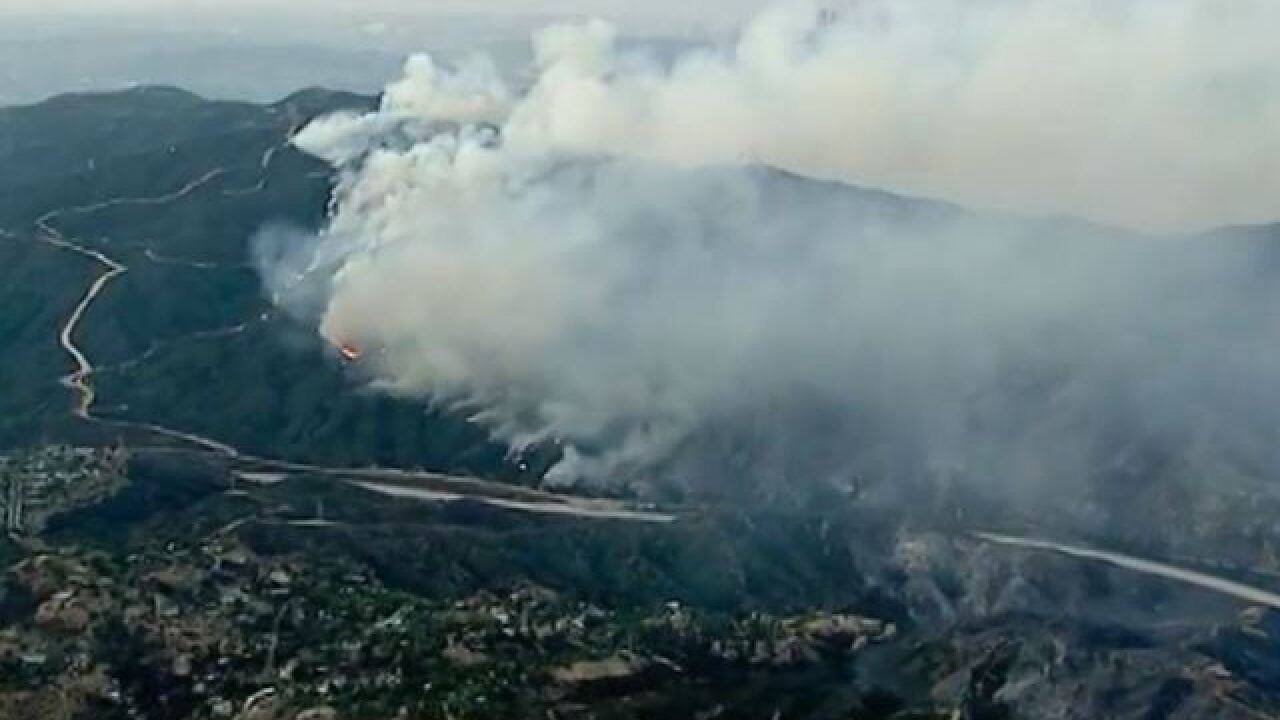 Thousands of acres charred by La Tuna Fire near Los Angeles