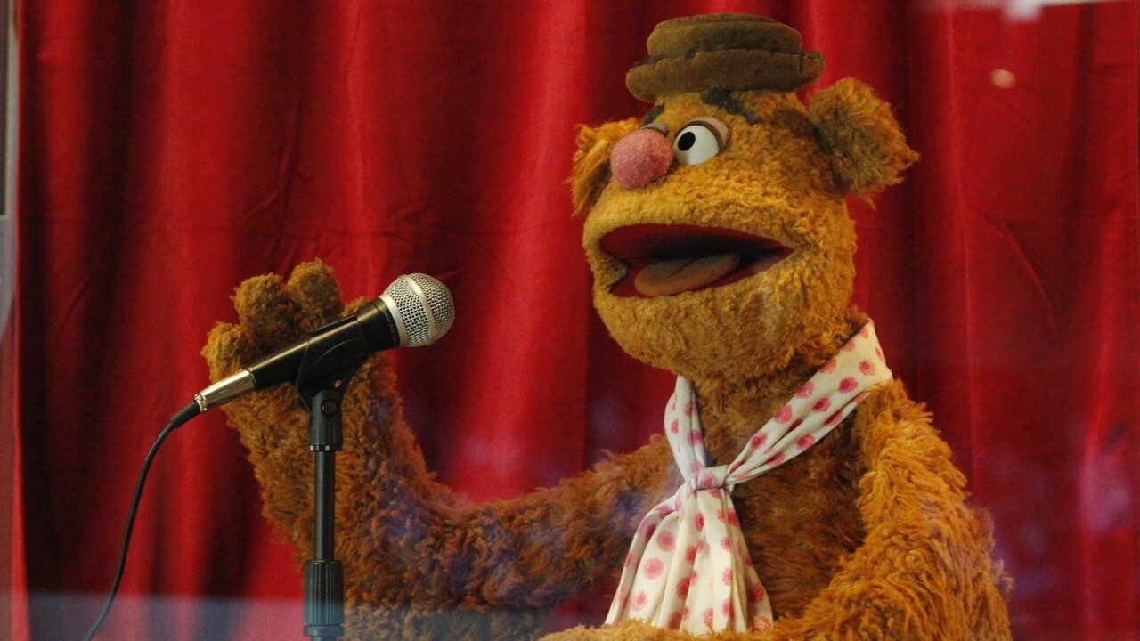New Fozzie Bear exhibit at the National Comedy Center open now