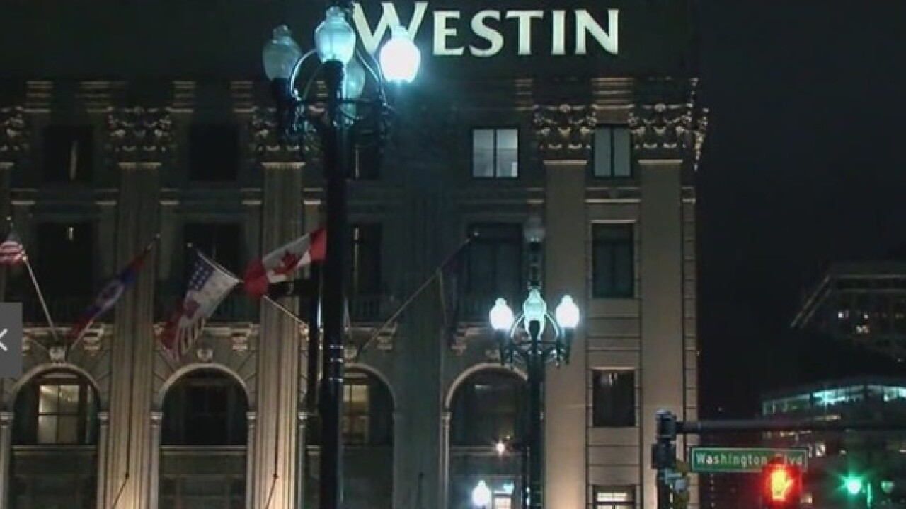 Westin Book Cadillac hotel workers go on strike