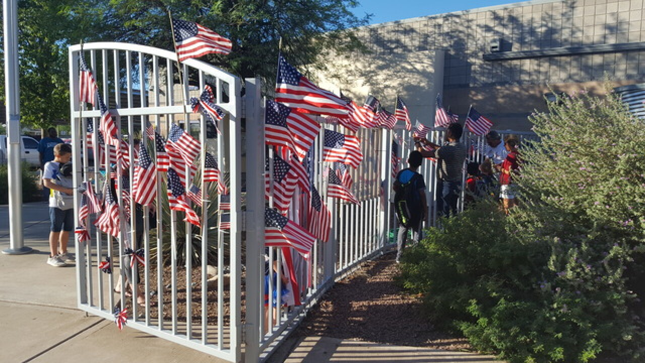 Marana students' flags celebrate Patriot Day