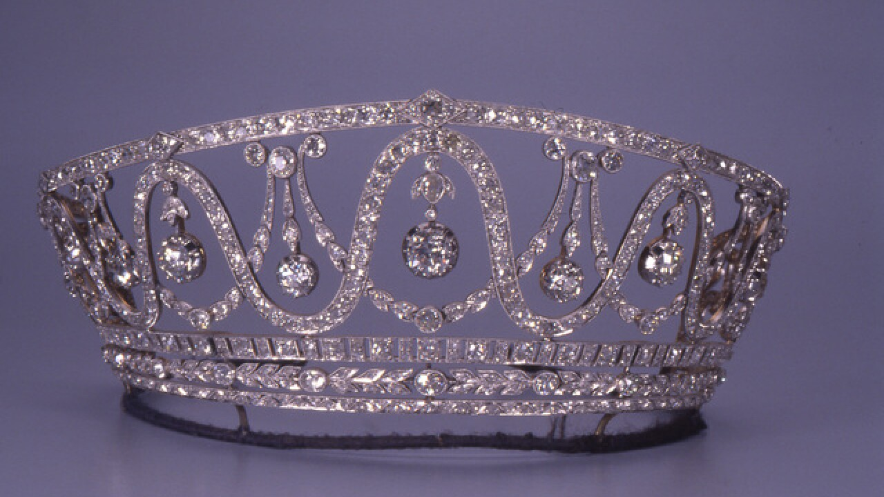 Tiara adorned with 367 diamonds stolen from museum