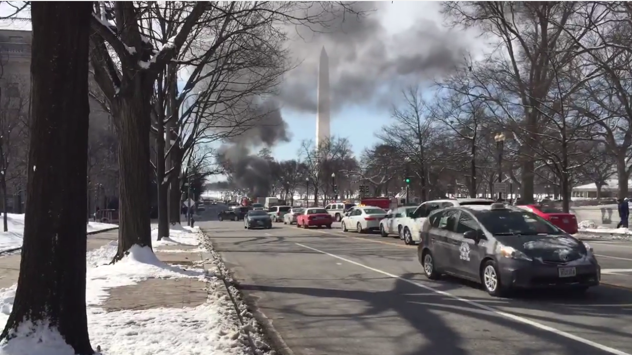 Fire and suspicious vehicle near White House delay Selma trip for first family