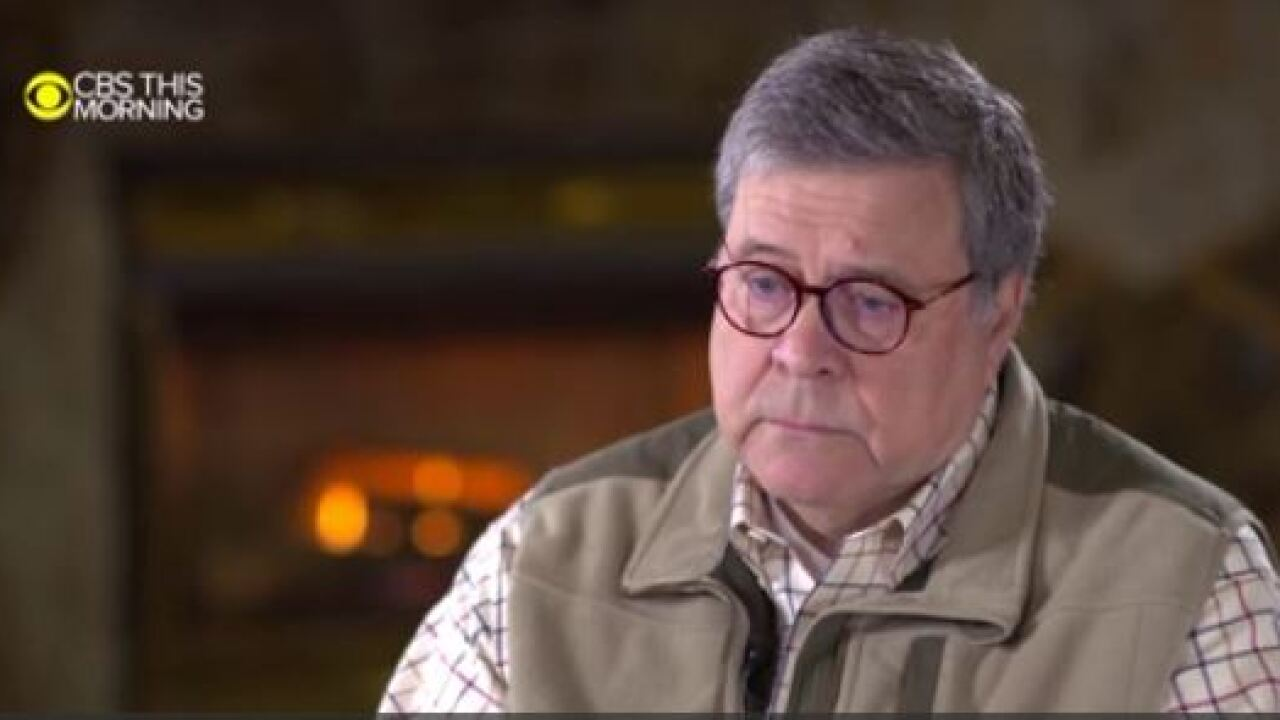 "AG Barr says Mueller ""could've reached a decision"" in interview with CBS This Morning"
