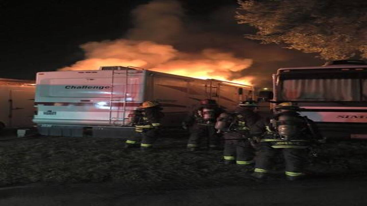 Fire damages 3 RVs at Clearwater Travel Resort