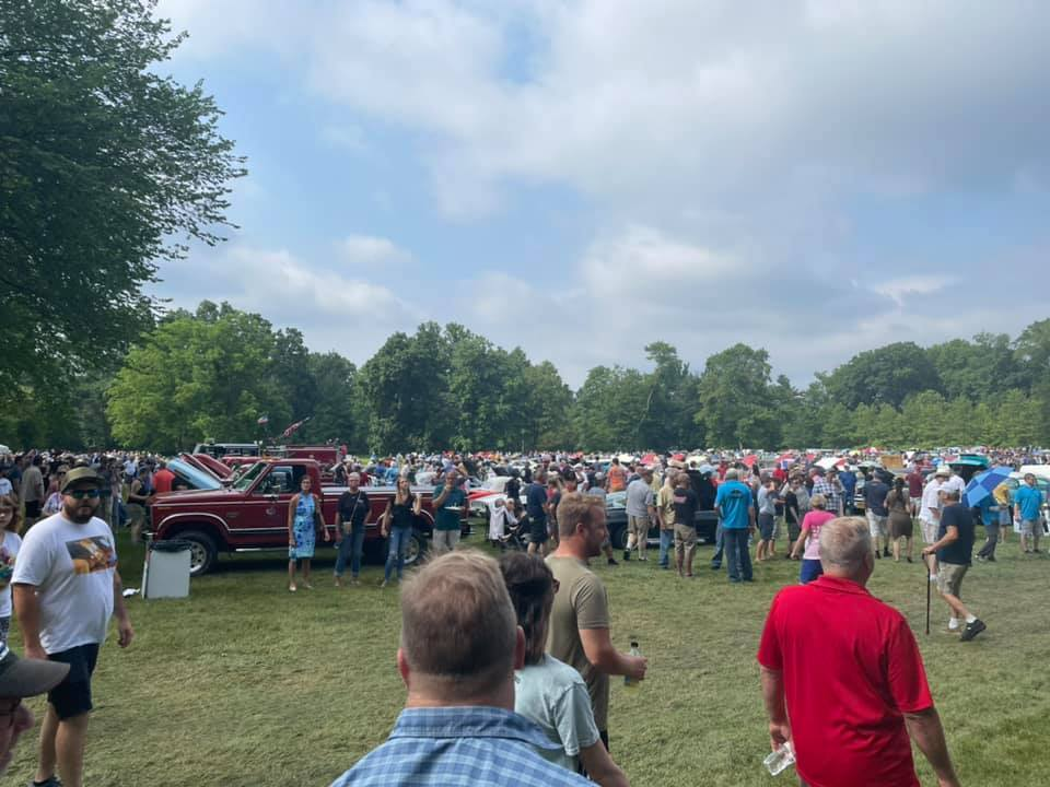 Crowds at annual Father's Day Car Show at Akron's historic Stan Hywet Hall and Gardens