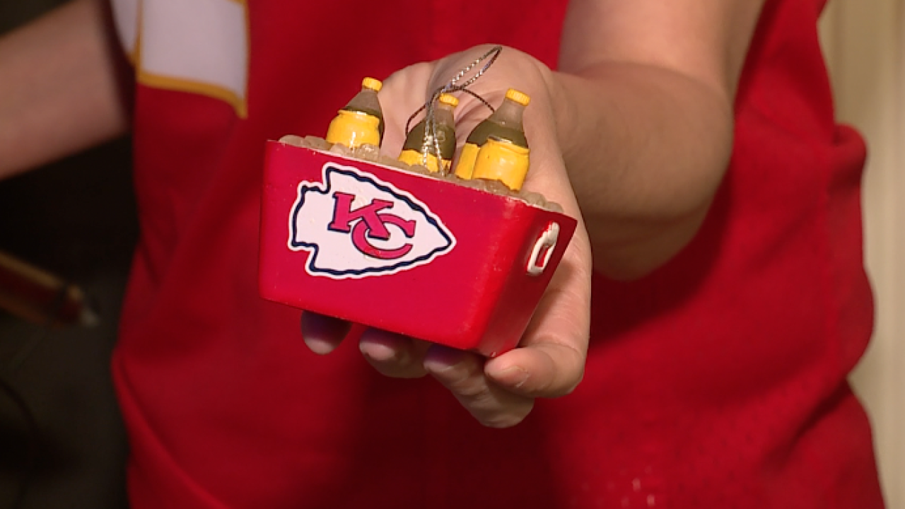 Chiefs cooler ornament
