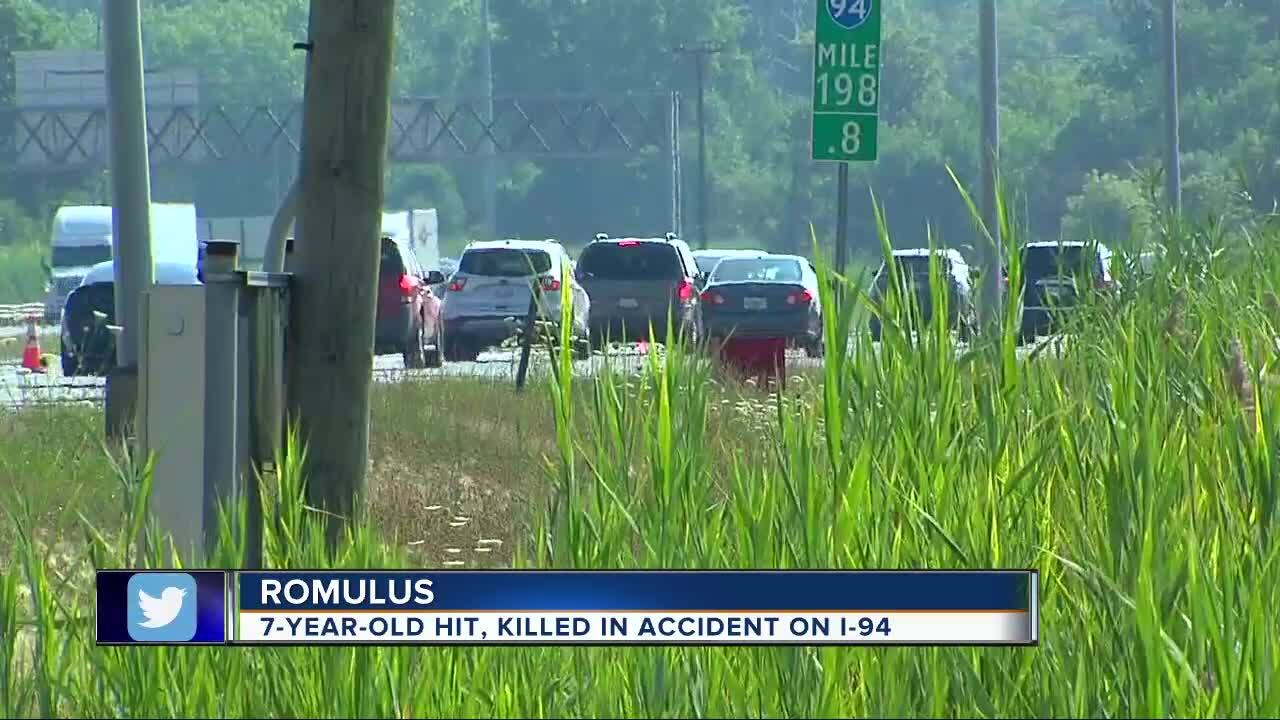7-year-old girl killed while crossing I-94