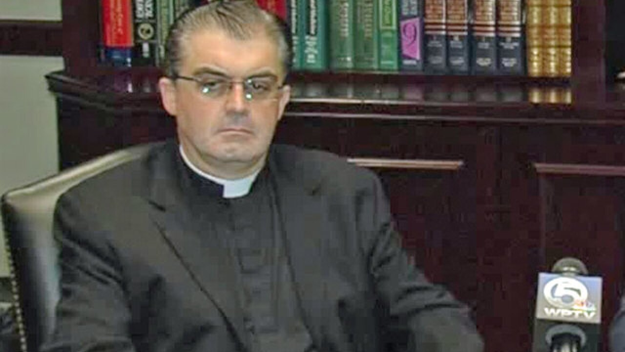 Priest sues Diocese of Palm Beach