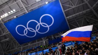 Russian flag at 2018 Olympics
