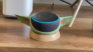 Buy a Baby Yoda stand for your Echo Dot