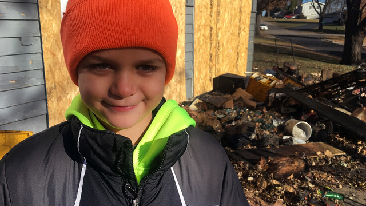 Gladstone boy saves family from fire