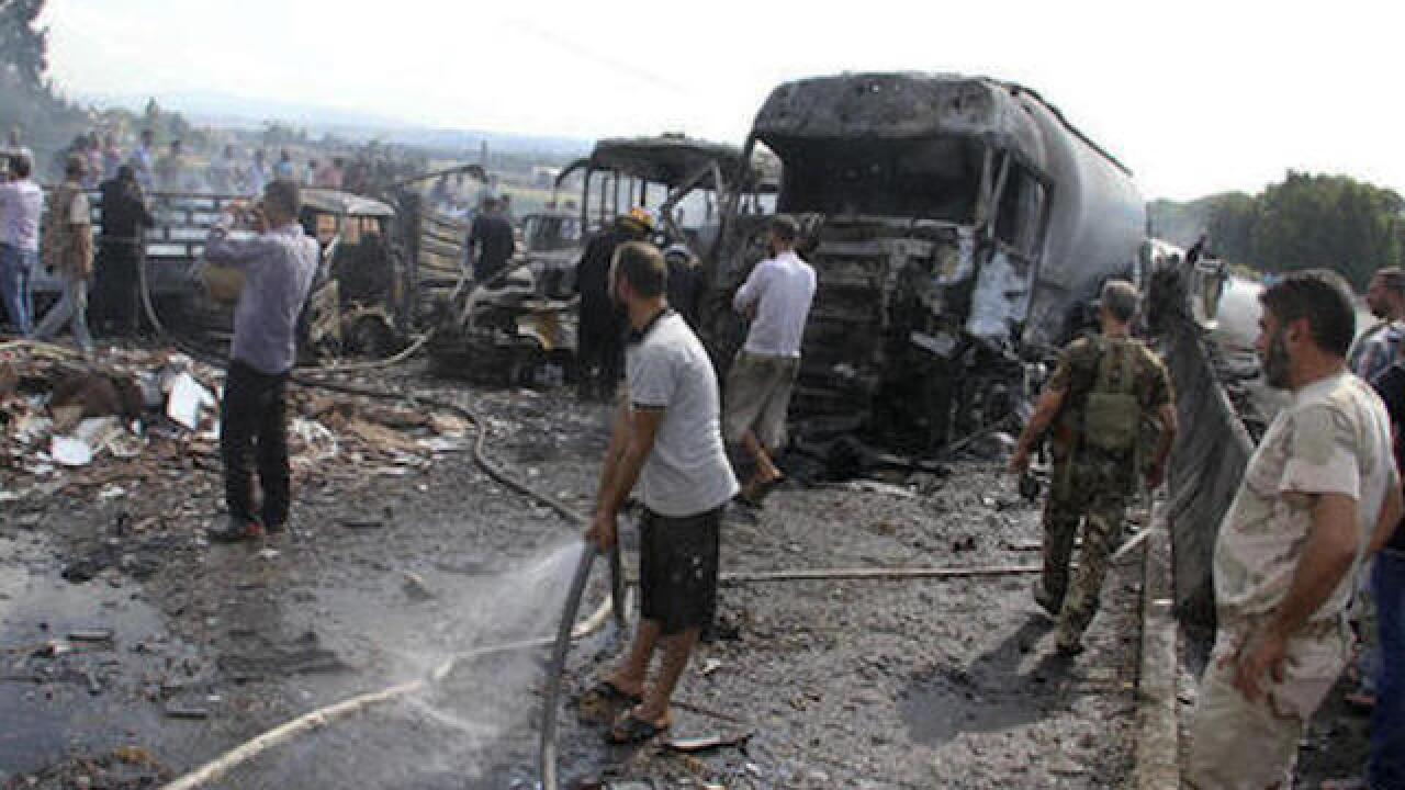 Series of ISIS attacks in Syria kills 48