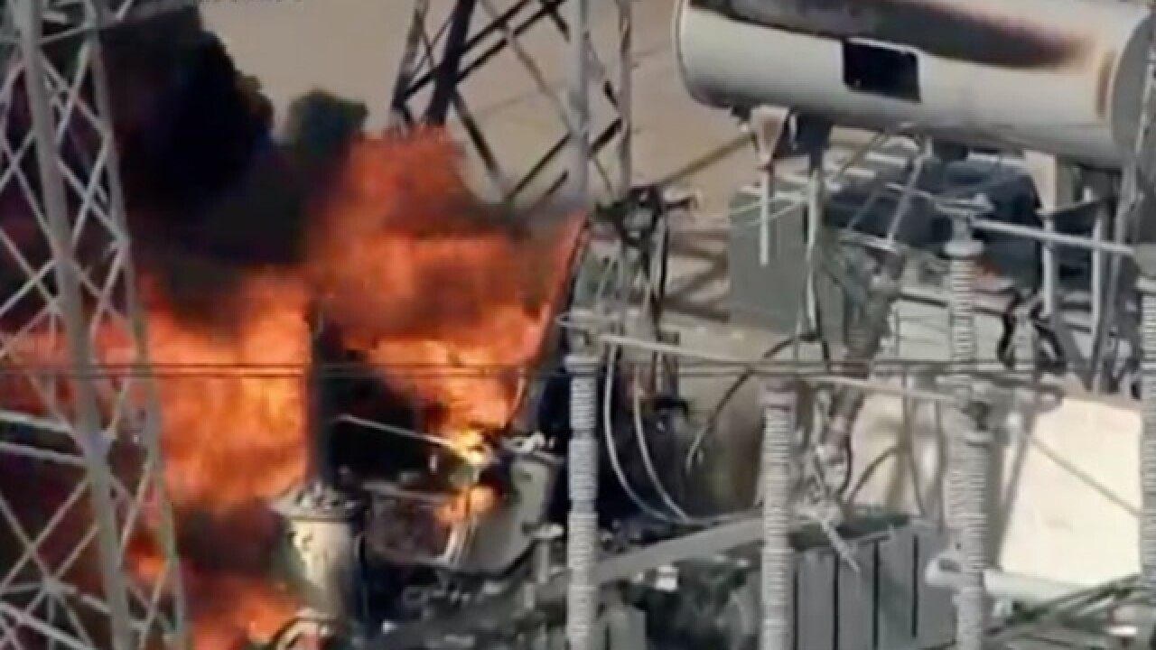 Transformer fire erupts near Houston