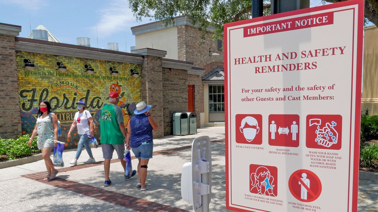 Disney Springs Health and Safety reminders