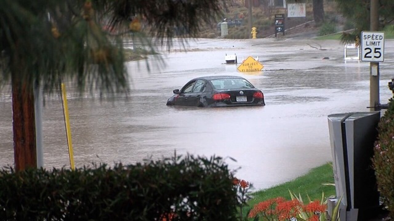 Sorrento Valley workers fear flooding from rain