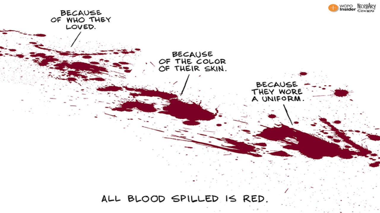 CARTOON: All blood spilled is red