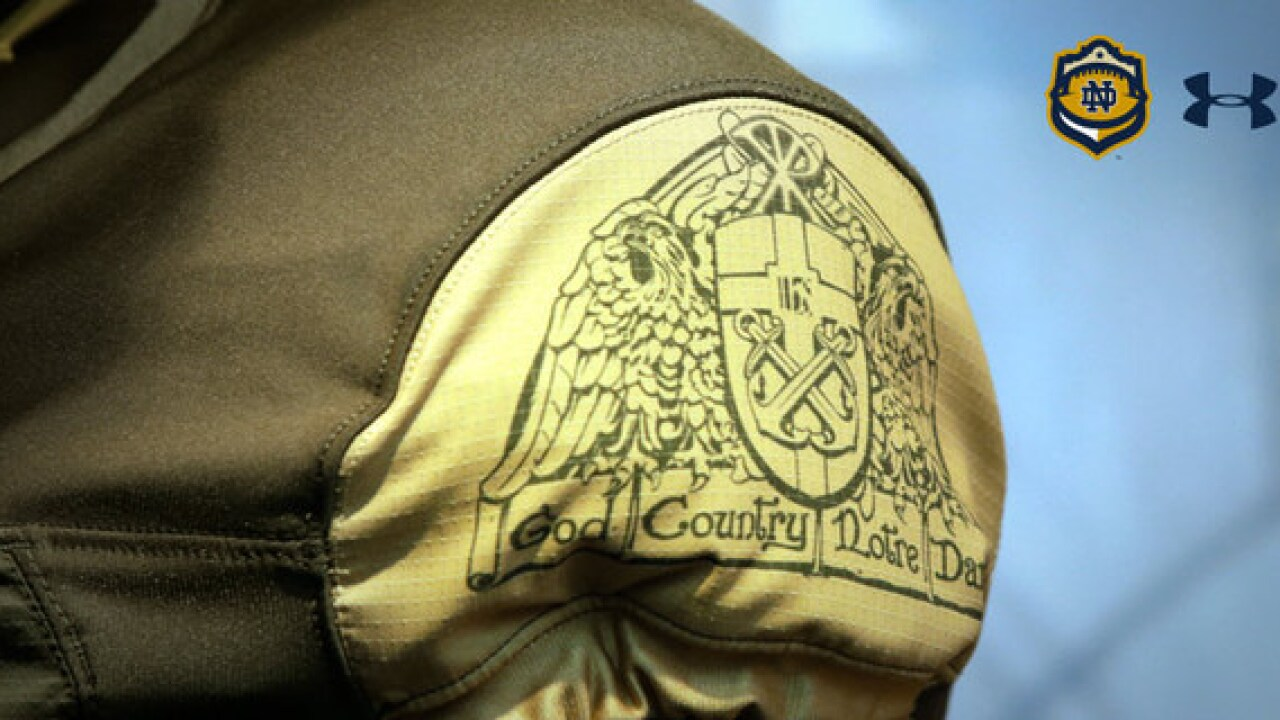 Under Armour Notre Dame Shamrock Series uniforms