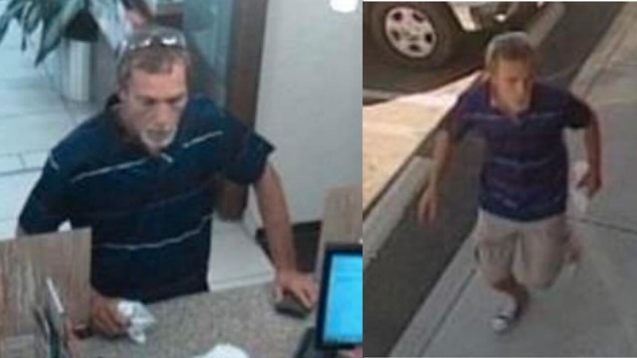 FBI searching for El Cajon bank robbery suspect