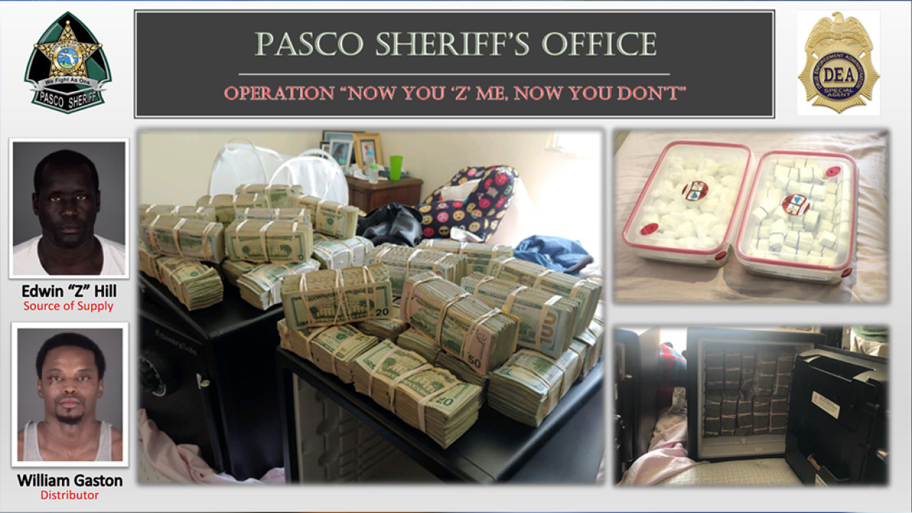Pasco County arrest means thousands of doses of illegal