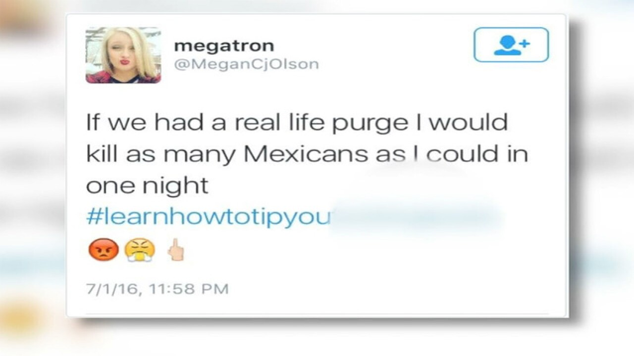 Waitress fired, tweets desire to 'kill' Mexicans