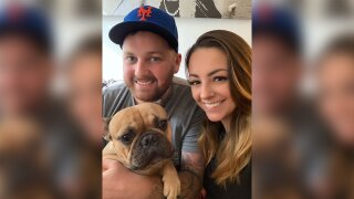 A French bulldog survived a 6-story plunge from a New York building by landing in the luckiest spot