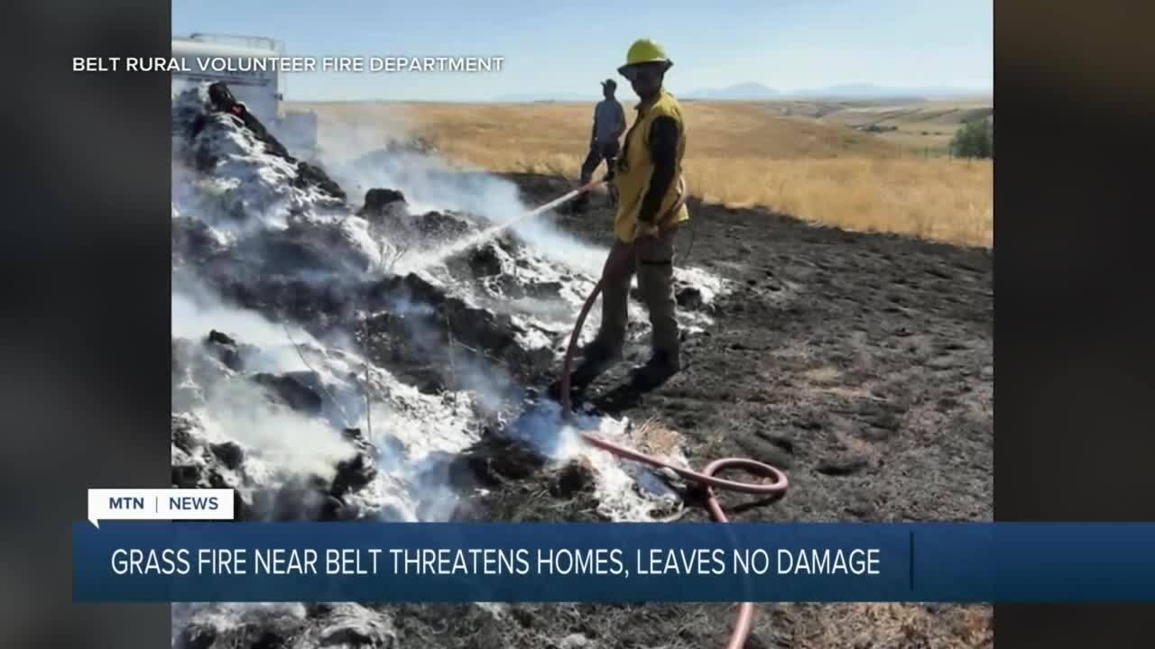 Grass fire near Belt threatens homes