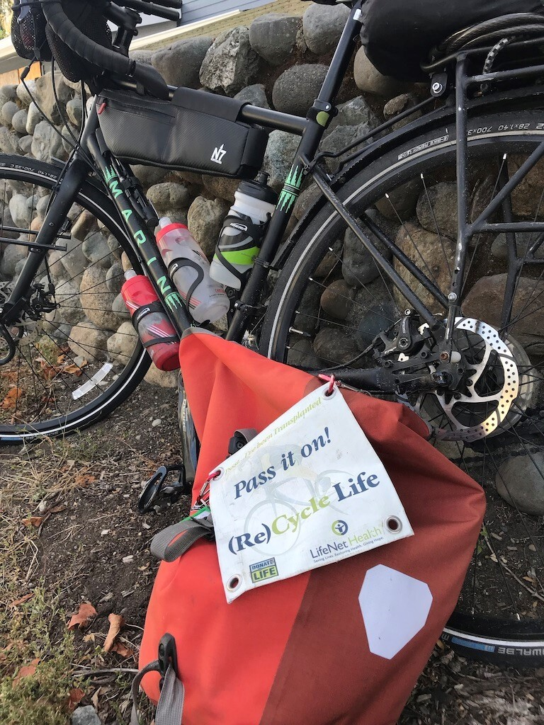 Photos: Local cyclist completes ride of a lifetime to raise awareness about organdonation
