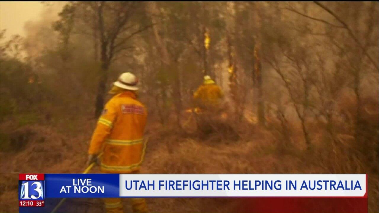 Utah firefighter is battling Australianfires