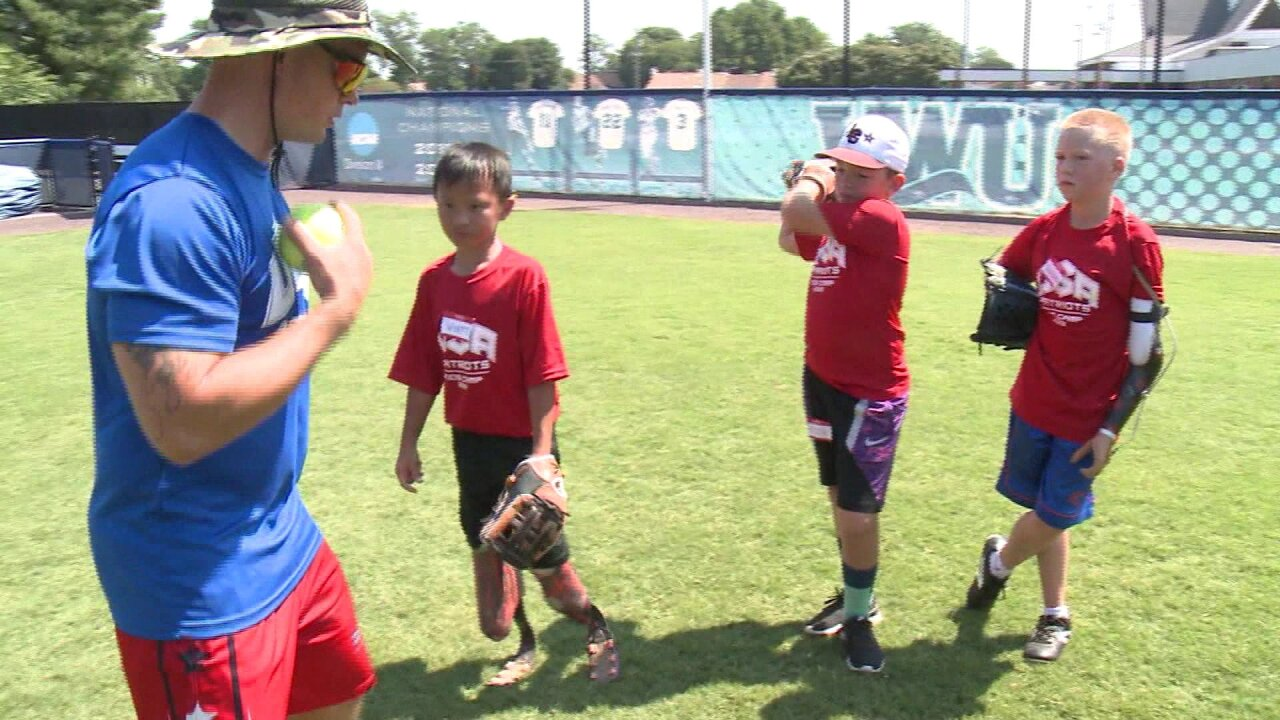 Wounded vets teach children with missing limbs how to play ball in VirginiaBeach