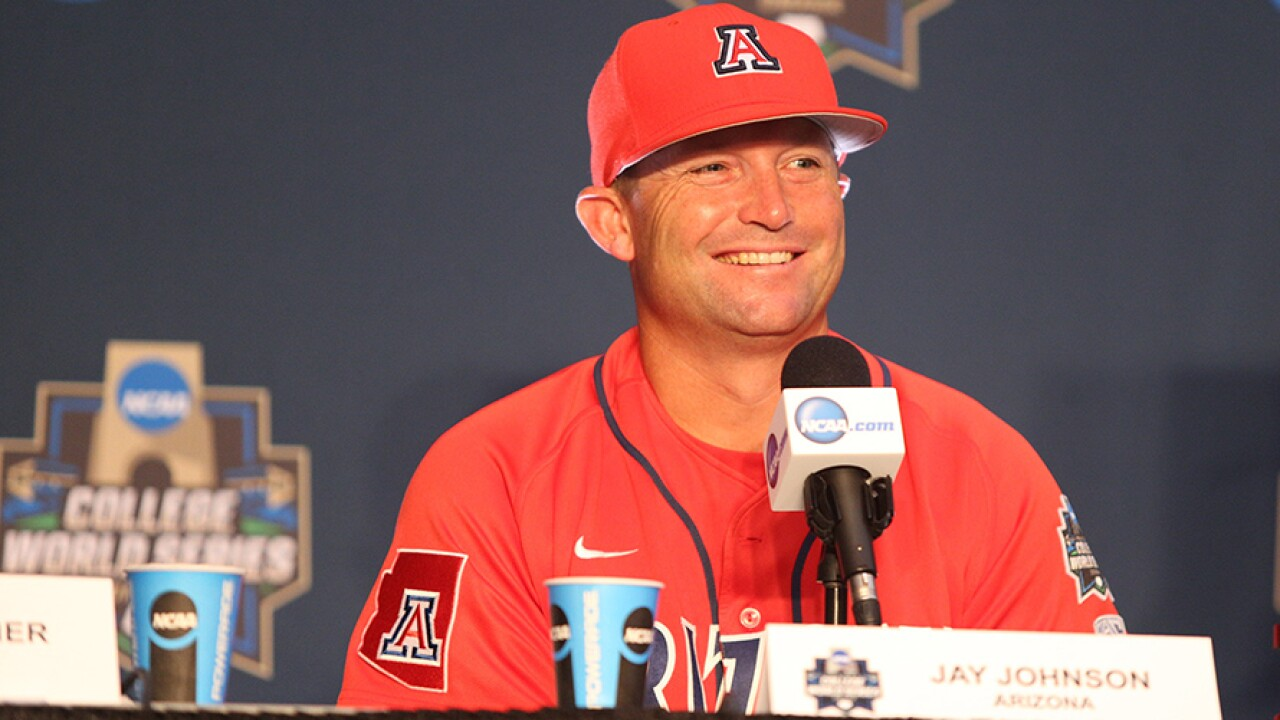 Arizona baseball coach Jay Johnson has agreed to leave the Wildcats for the LSU head job that opened when Paul Mainieri retired after this season, a person with knowledge of the situation said Thursday. Photo via ArizonaWildcats.com