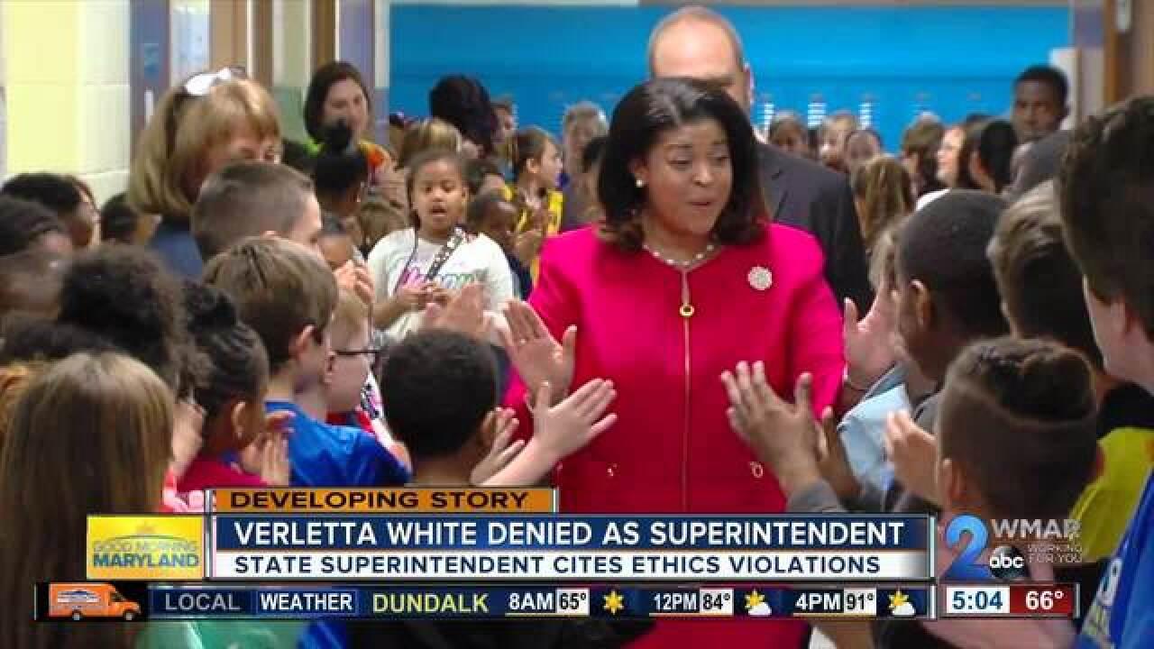 Verletta White declined as BCPS superintendent