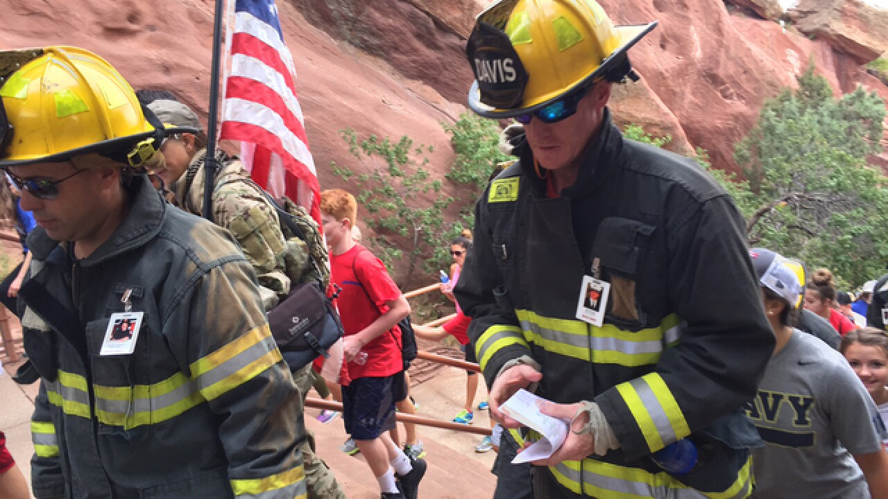 Colorado 9/11 Stair Climb hosting annual event Tuesday at Red Rocks Amphitheatre