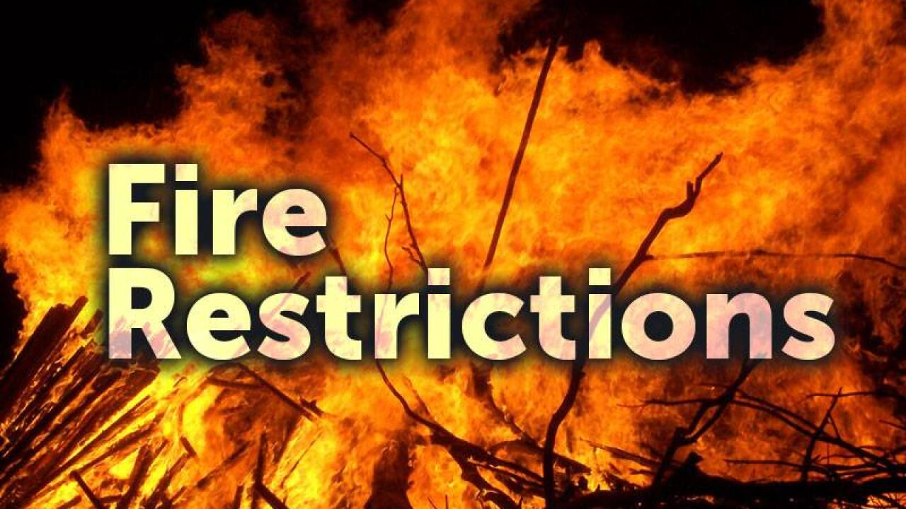 Colorado Springs Fire Department announces burn restriction order