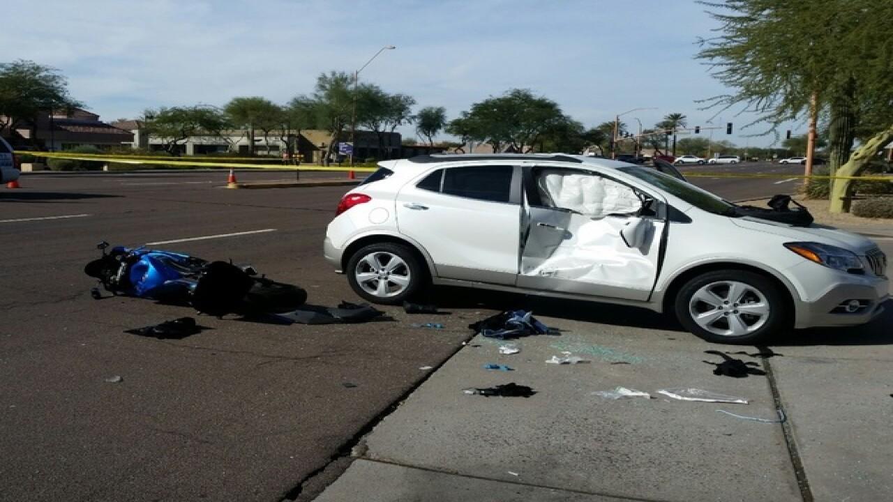 PD: Deadly crash closes Frank Lloyd Wright Blvd