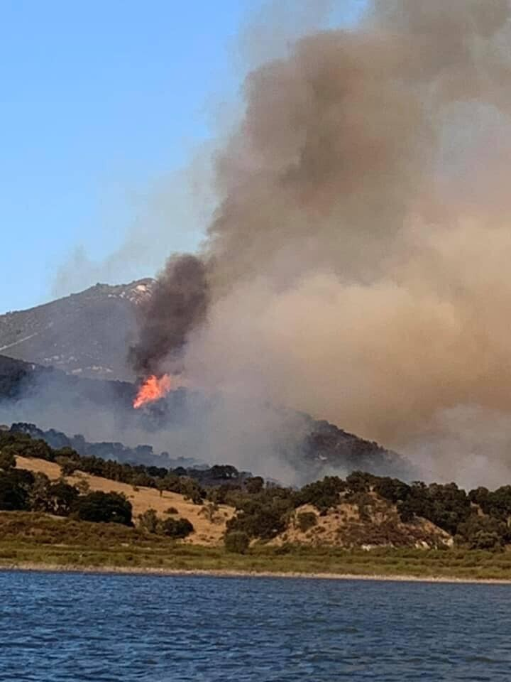 Campers can see Lopez Fire from their campgrounds.