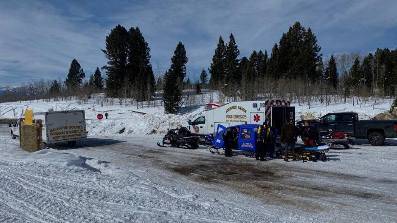 Woman Injures Back Hip While Snowmobiling Near West Yellowstone