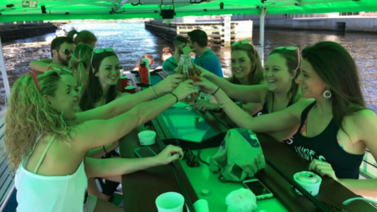 Drink around Tampa Bay on Kraken CycleBoats
