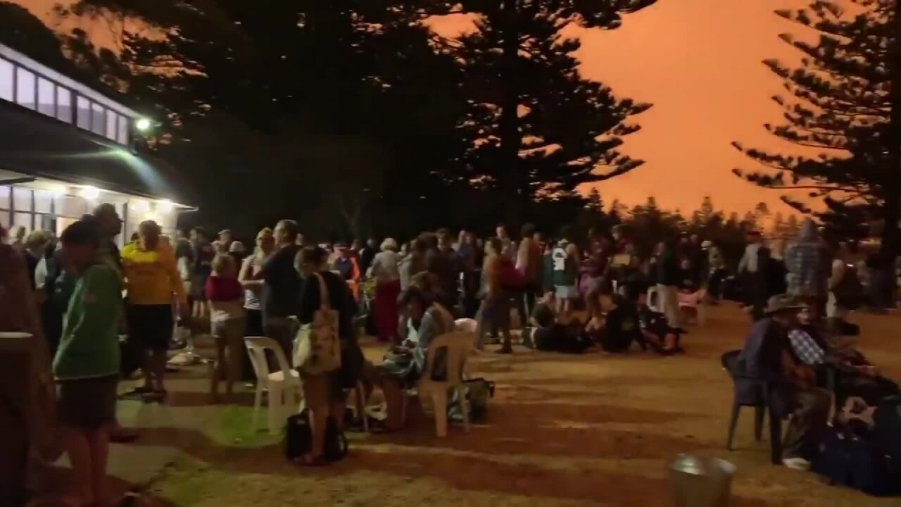Thousands of Australian residents had to take refuge on a beach as wildfires raged
