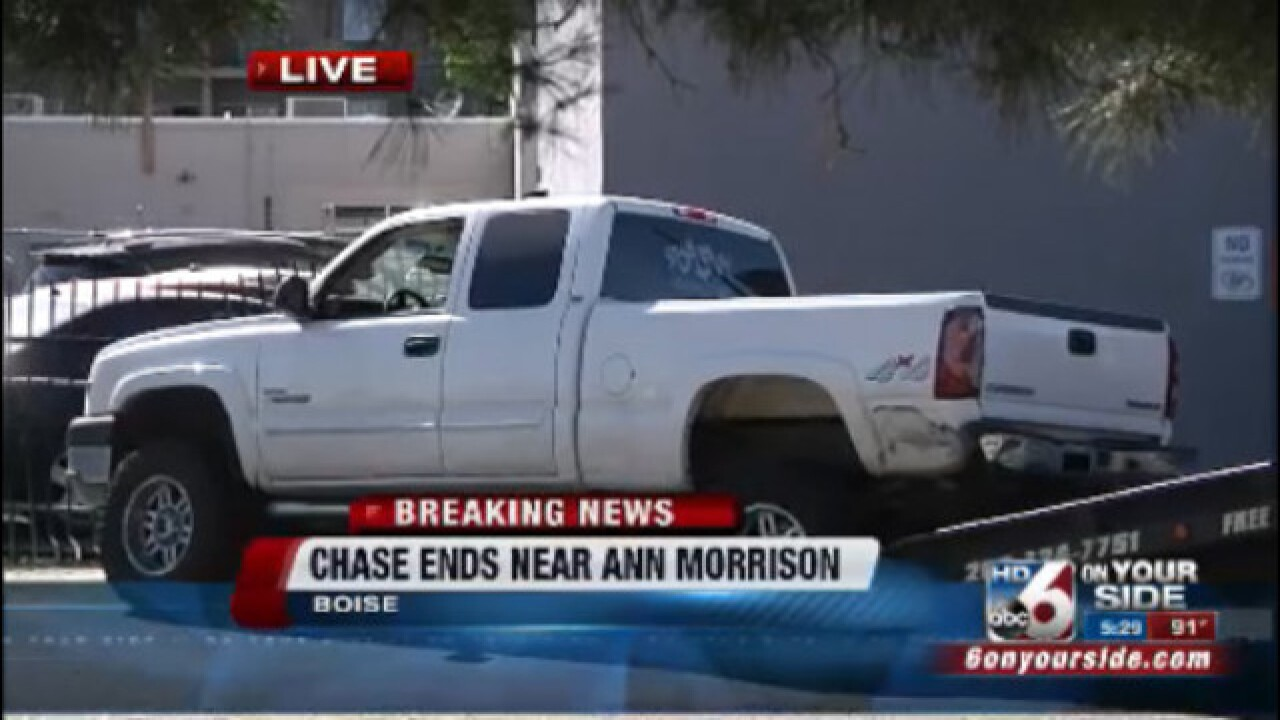 Police identify man arrested after Boise chase