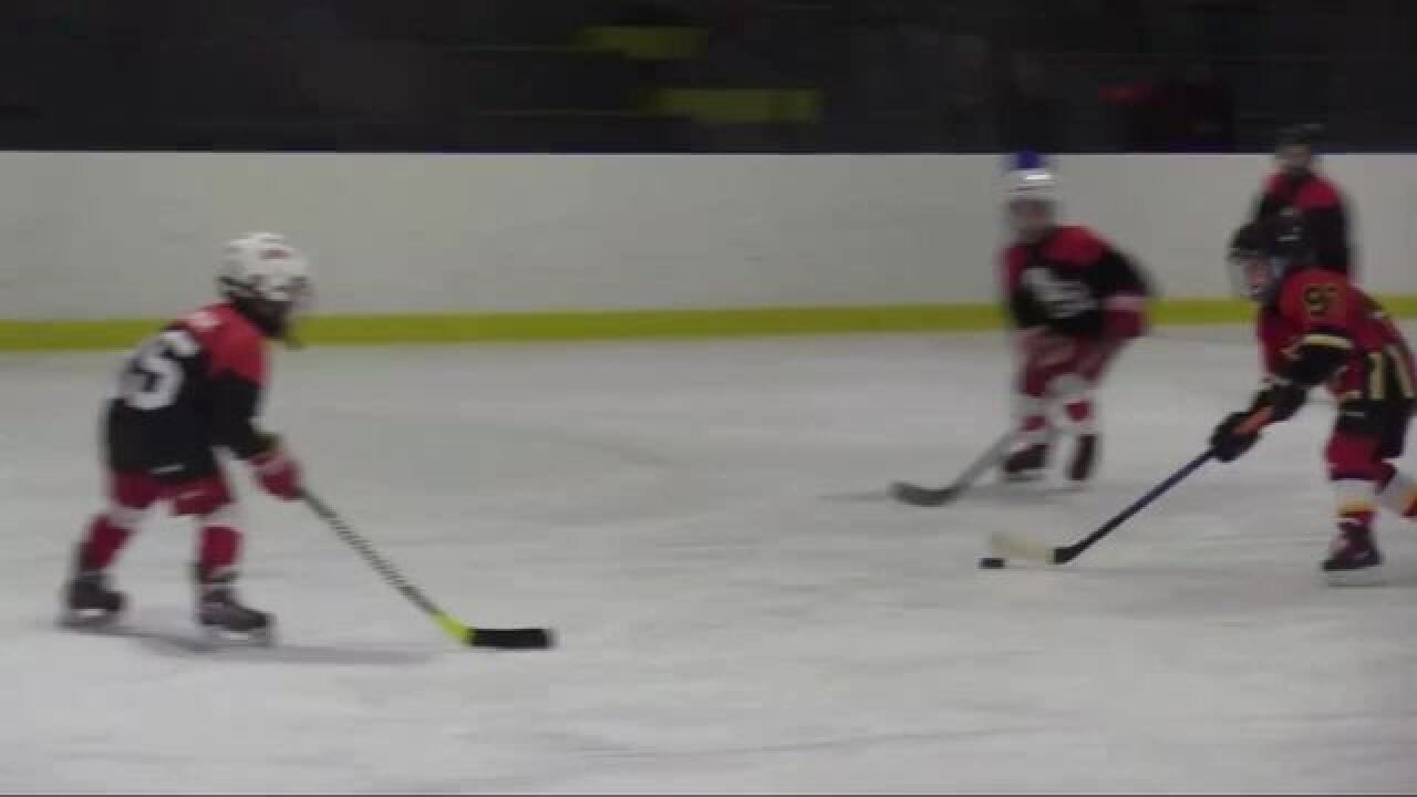 Young hockey star: Livonia seven-year-old Owen McGlinch scores hat trick on his birthday