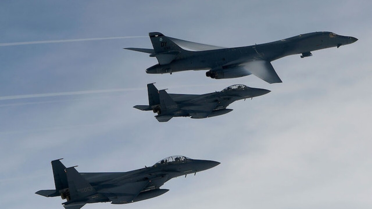 US sends message to North Korea, sends bombers and fighter escorts to border