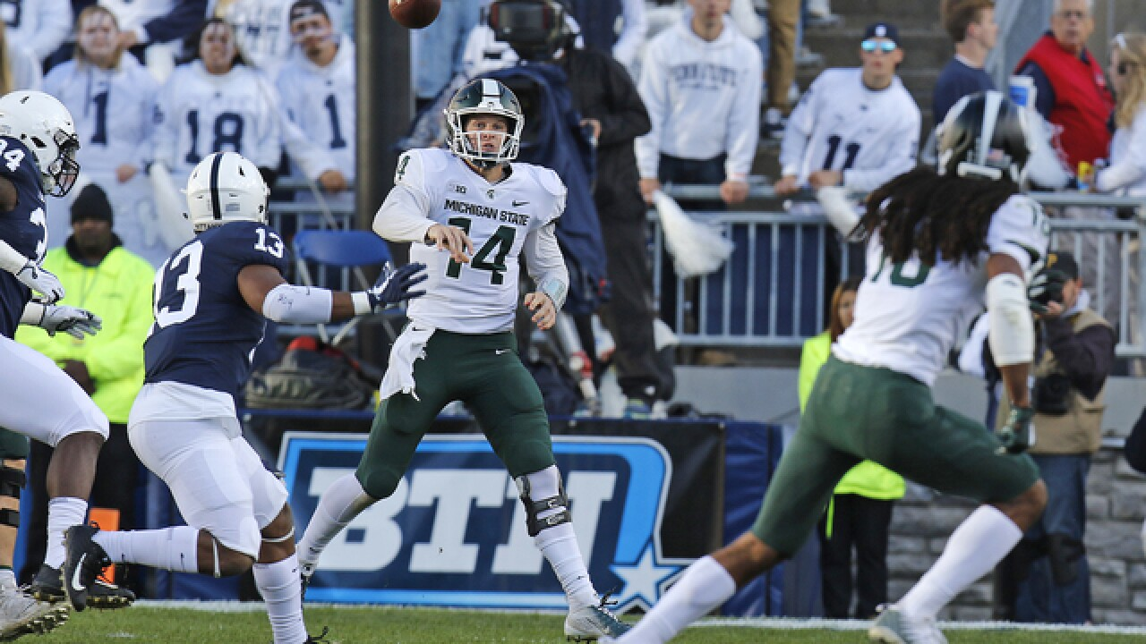 Late TD pass pushes Michigan State past No. 8 Penn State