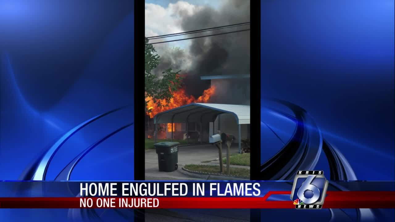 No one injured after fire engulfs Annaville home