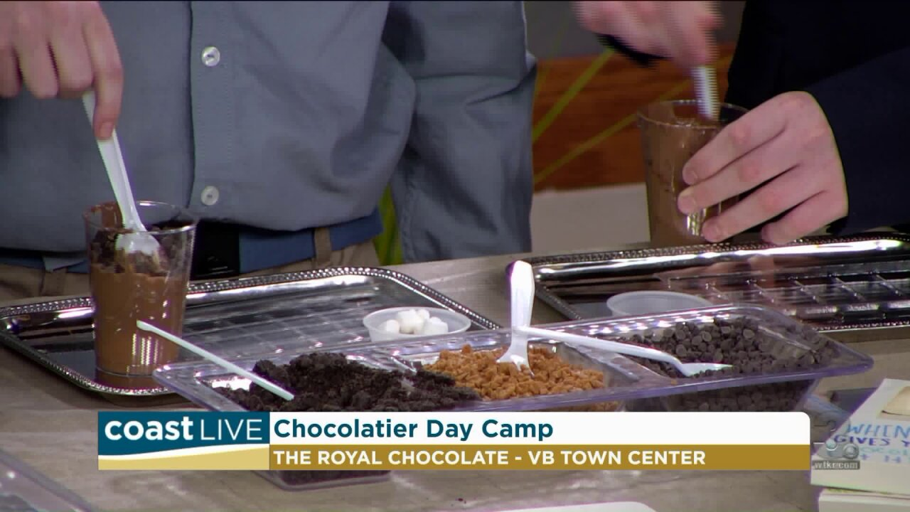 Making homemade chocolate bars with folks from The Royale Chocolate on CoastLive