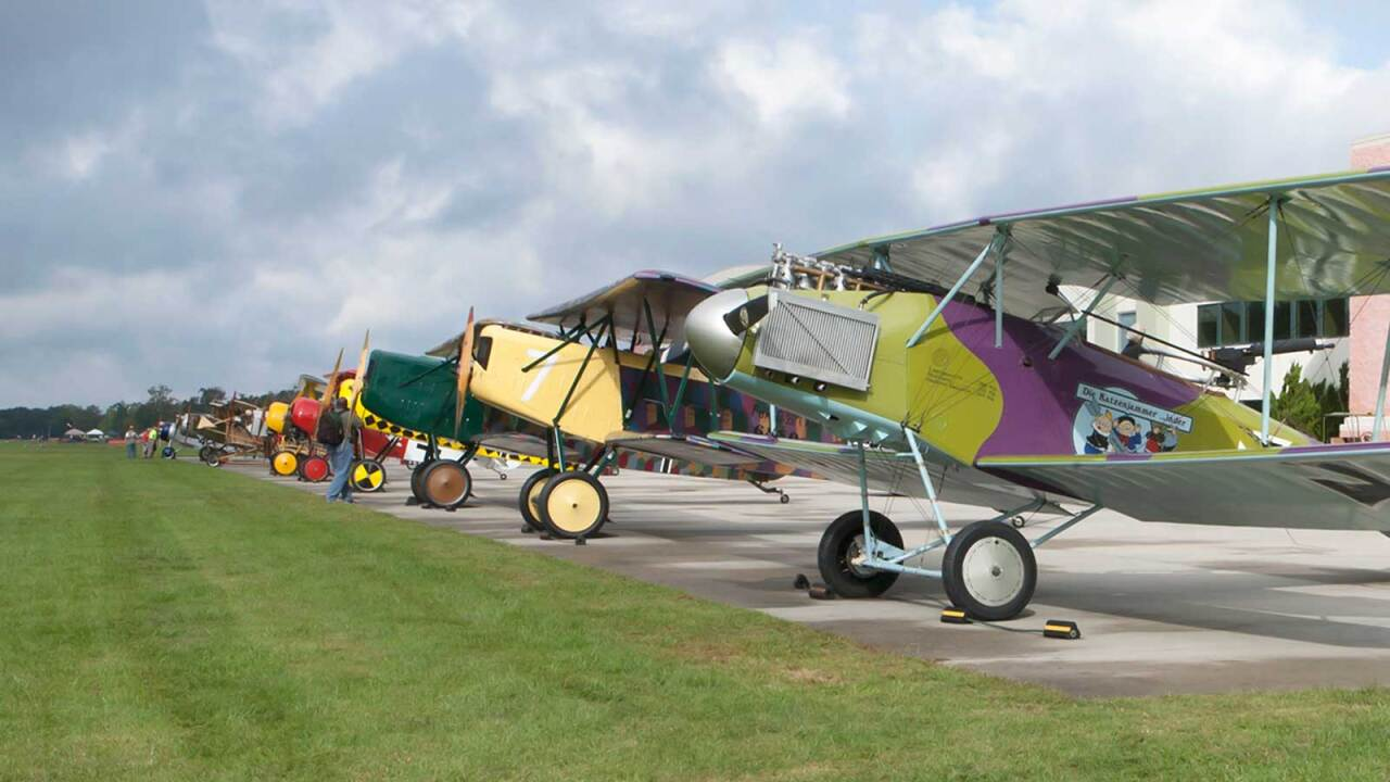 """Biplanes and Brews"" returns to Military Aviation Museum, showcasing World War I-era airplanes"
