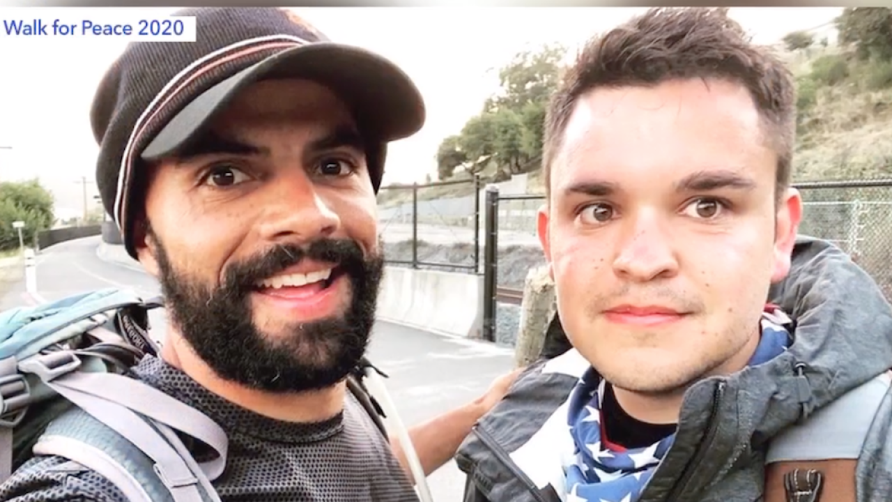 Friends walking across America to promote acceptance and kindness