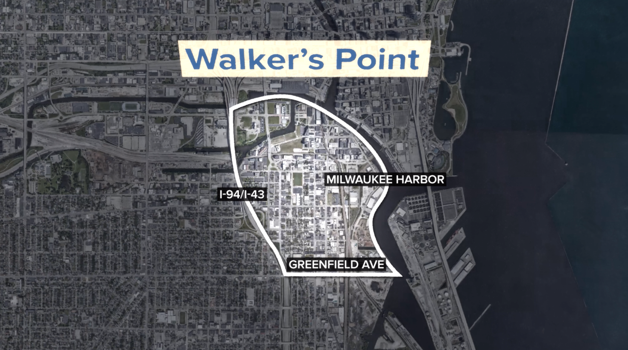 The approximate boundaries of the Walker's Point neighborhood according to the Walker's Point Association.